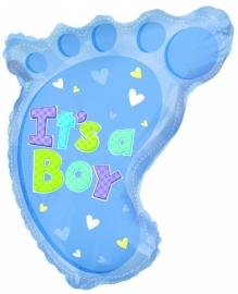 """Babyvoetje Boy""  folie ballon"