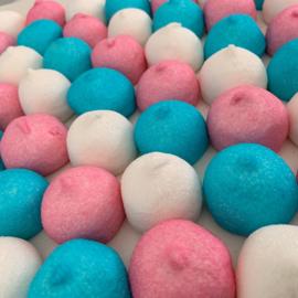 Spekbollen blauw/roze/wit -250 gram