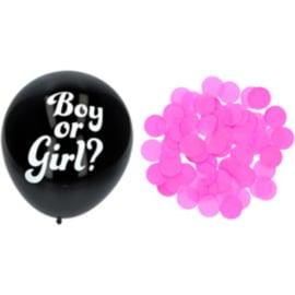 Boy or Girl? Gender Reveal roze confetti ballonnen 3 stuks