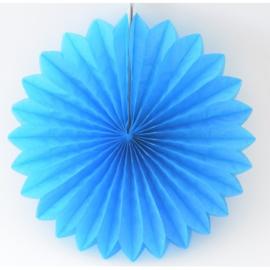 Decoratie waaier licht blauw
