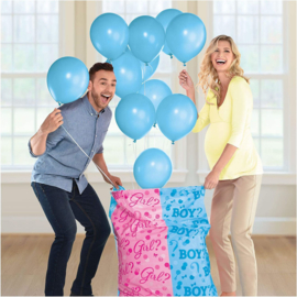 Gender Reveal Surprise Bag XL met ballonnen