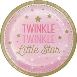 """Twinkle Twinkle Little Star"" Girl lunch bordjes"
