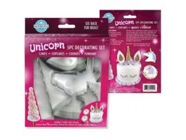 Unicorn taart decoratie set