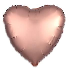 Rosé gouden folieballon Hart 43 cm