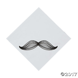 """Mustache Party"" lunch servetten"