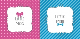 """Little Man or Little Miss"" gebak servetten"