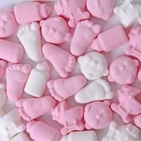 Roze/witte foam snoepjes Silo 700 gram