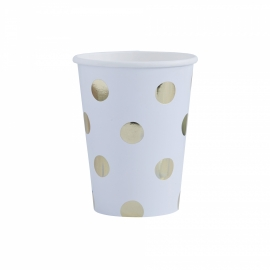 """Golden Dots"" drinkbekers (8 stuks)"