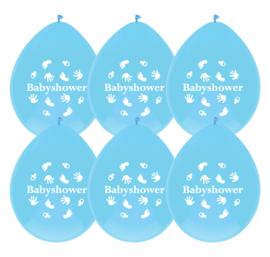 """""""Babyshower Blue"""" ballonnen"""