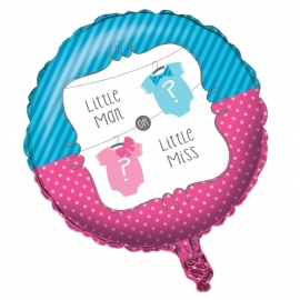 """Little Man or Little Miss"" folie ballon (leeg!)"
