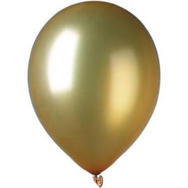 Goudkleurige ballonnen 10 stuks van 12,5 cm