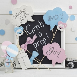 'Babyshower Photo Props' in geschenkdoos
