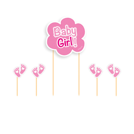 Sweet Baby Feet Pink Cake Topper
