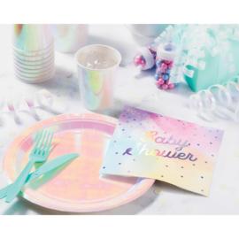 """Regenboog Babyshower"" lunch servetten"
