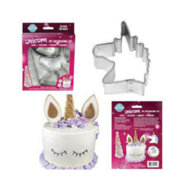 Unicorn taart decoratie set