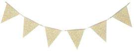 """""""Glittering Gold"""" vlaggetjes slinger"""