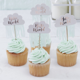 """Hello World"" cupcake picks"