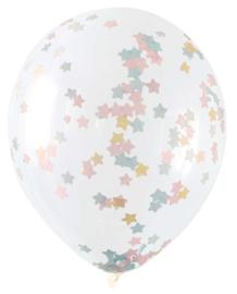 Pastel Ster Confetti Gevulde XL Ballonnen
