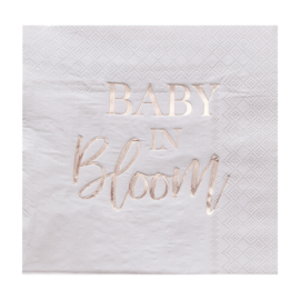 """Baby in Bloom"" lunch servetten"