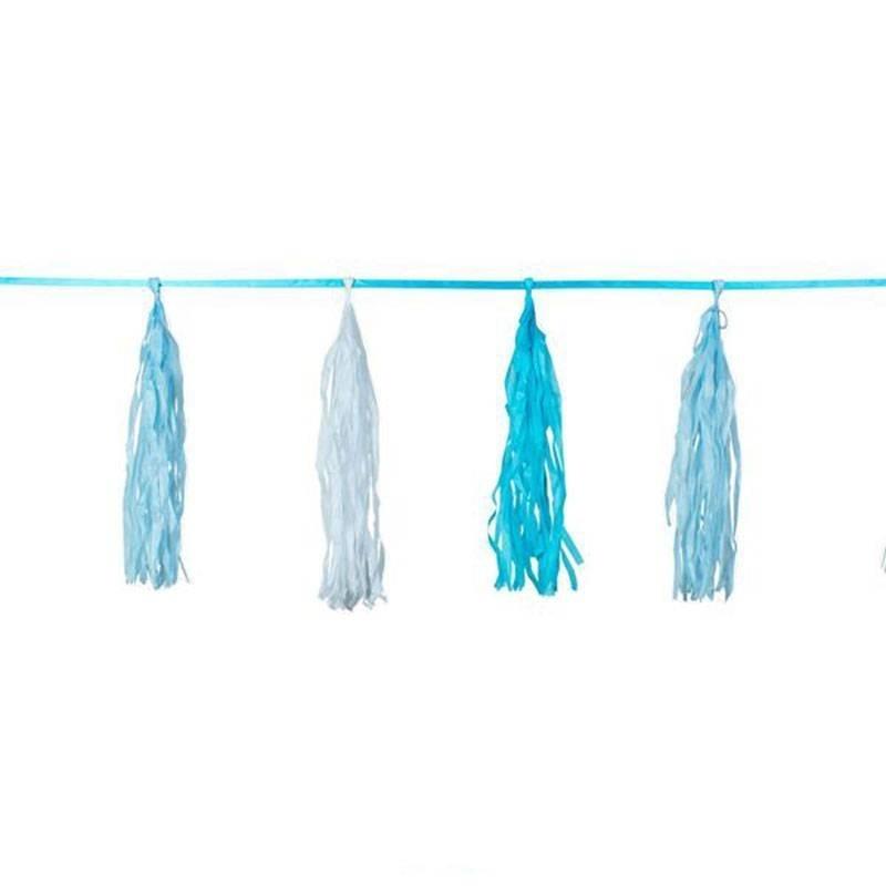 Blauw, witte Tassel slinger gaaf