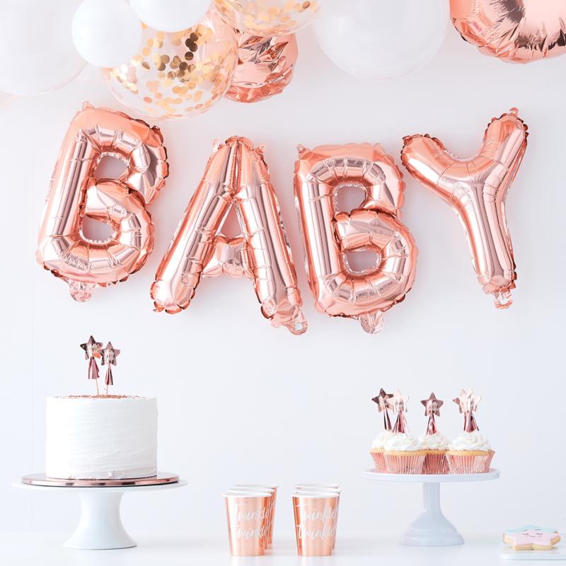 Folie Ballon Baby Rosé Goud