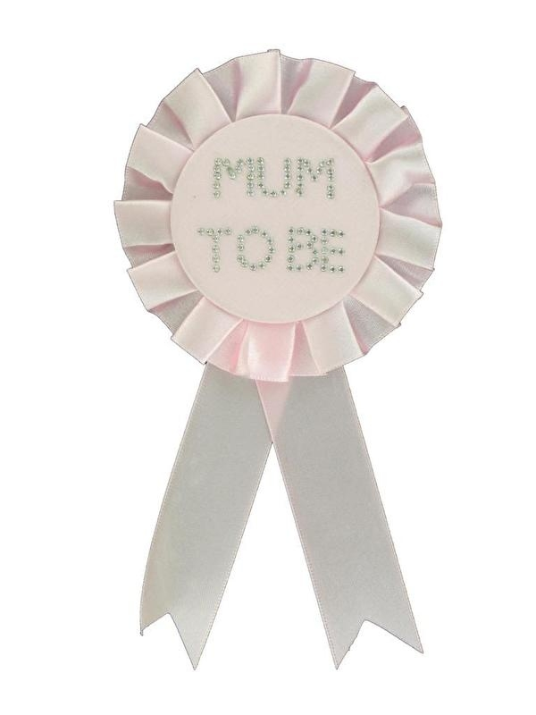 """Mum to Be"" Rozet/Button  Baby Roze"