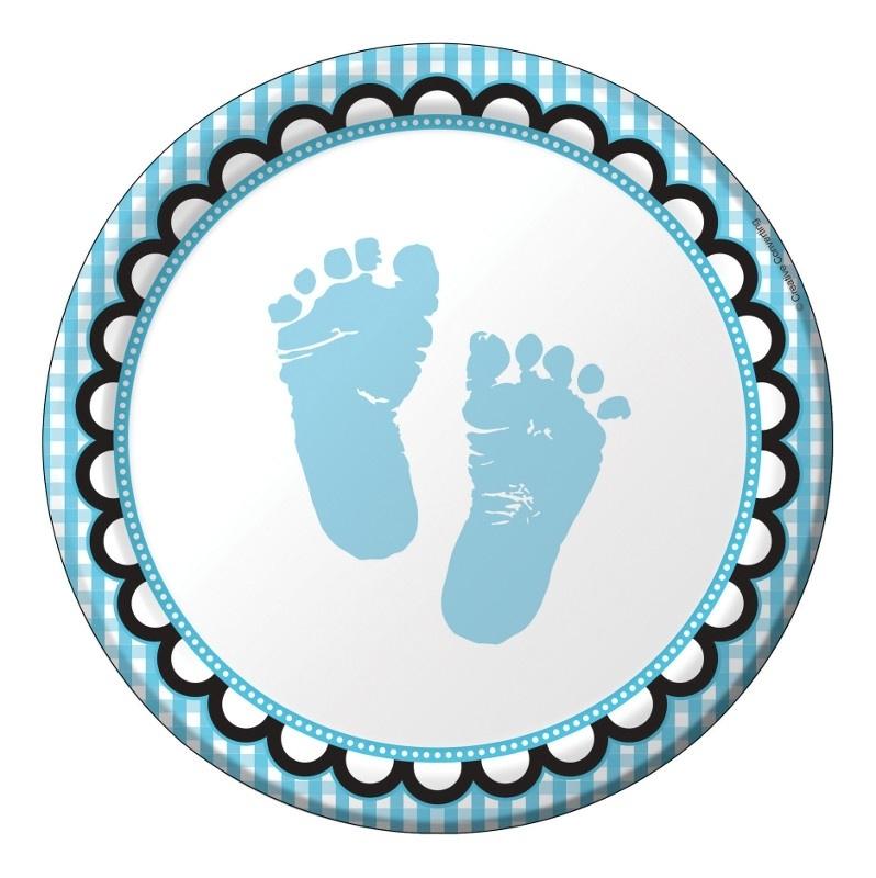 """Sweet Baby Feet Blue"" gebak bordjes"