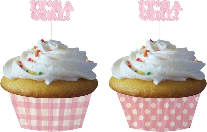 """It`s a Girl"" cupcake set"