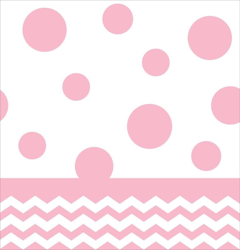 """Baby Pink Chevron/Dots"" tafelkleed"