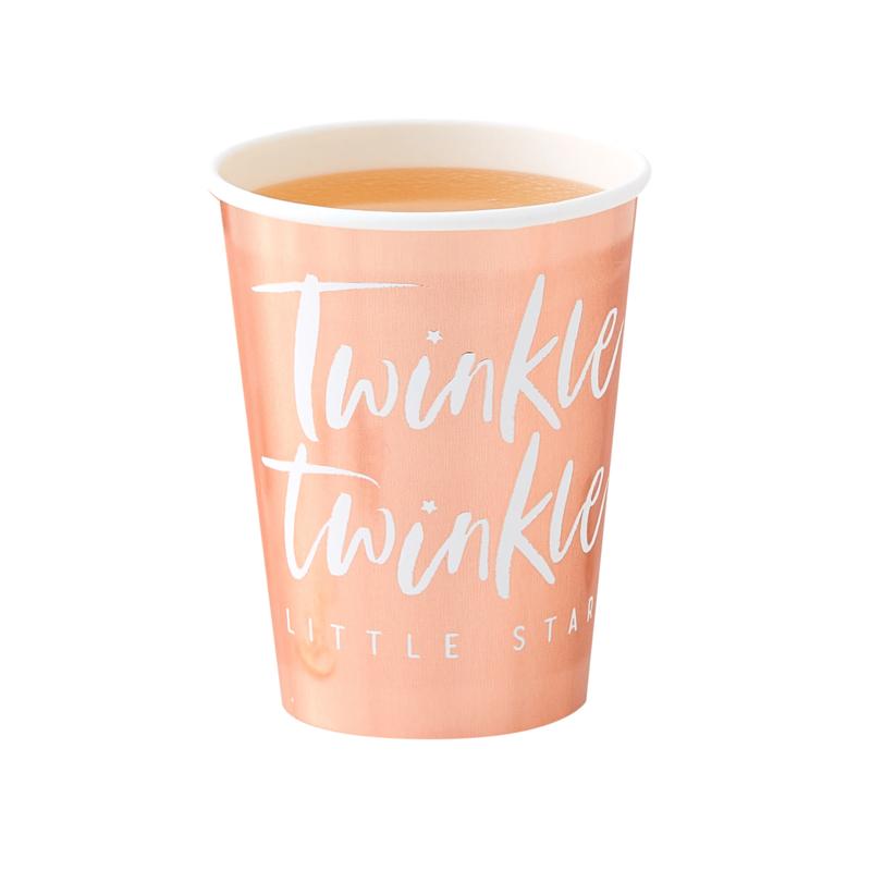 """""""Twinkle Twinkle"""" Rosé Gouden drinkbekers"""