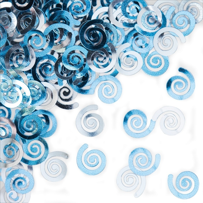 """Blue Swirls"" confetti"