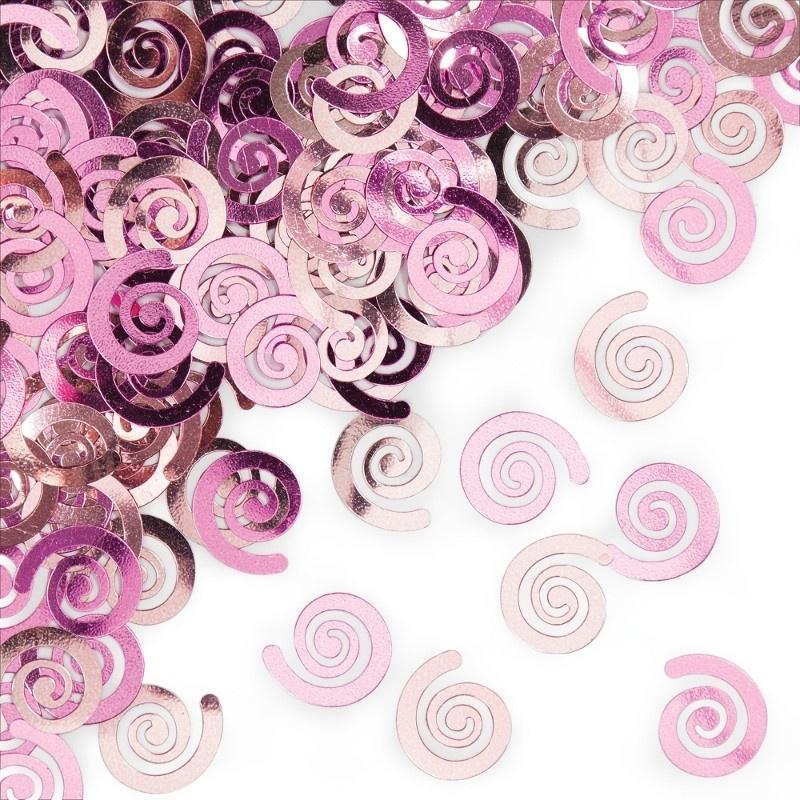 """Pink Swirls"" confetti"