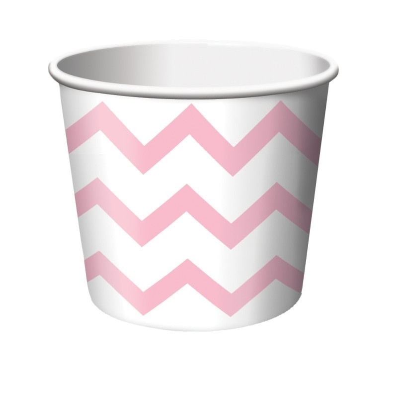 Traktatiebeker 'Chevron' Baby Pink