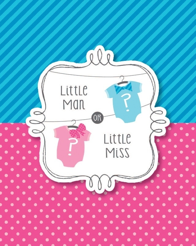 """Little Man or Little Miss"" uitnodigingen"