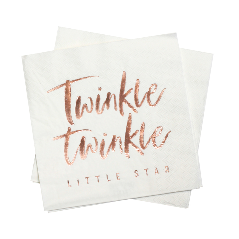 """""""Twinkle Twinkle"""" lunch servetten"""