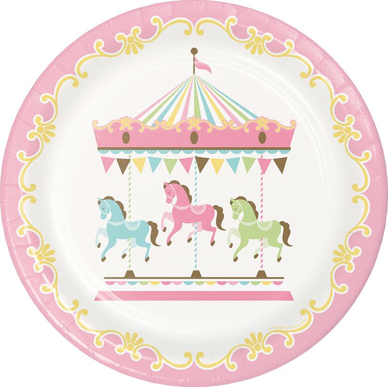 """Carousel Babyshower"" lunch bordjes"