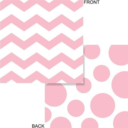 """Baby Pink Polkadot & Chevron lunch servetten"""
