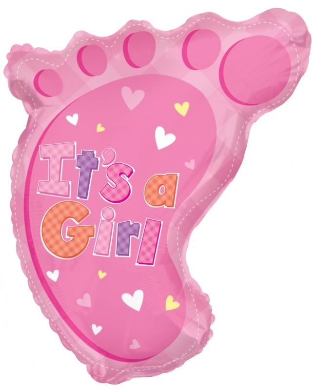 """""""Babyvoetje Girl""""  folie ballon"""
