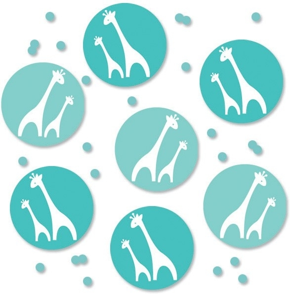 """Wild Safari Blue Babyshower"" confetti"