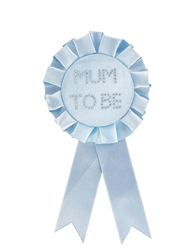 """Mum to Be"" Rozet/Button Baby Blauw"