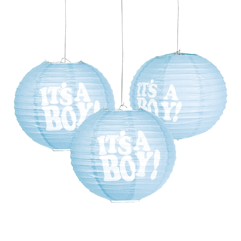 """Lampion It's a Boy, set van 3 stuks"""