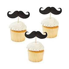 """Mustache Party"" prikkers 25 stuks"