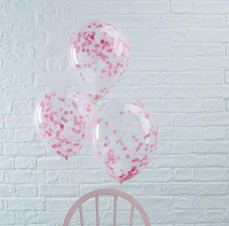 Roze Confetti Gevulde Ballonnen