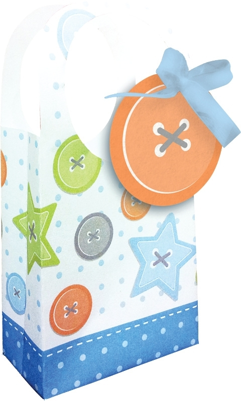 """Cute as a Button Boy"" goody bags"