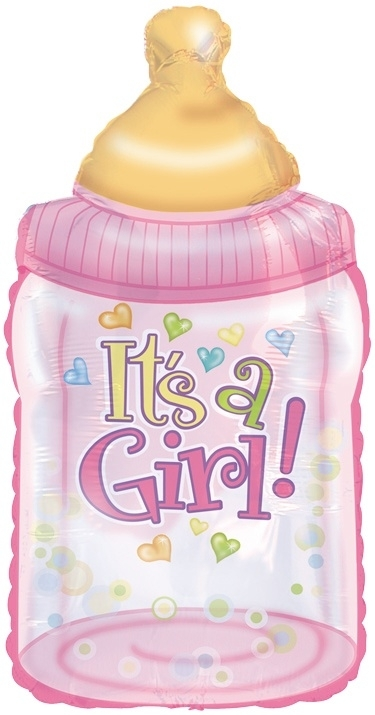 """""""Babyfles Girl"""" Super folie ballon (87 cm!)"""