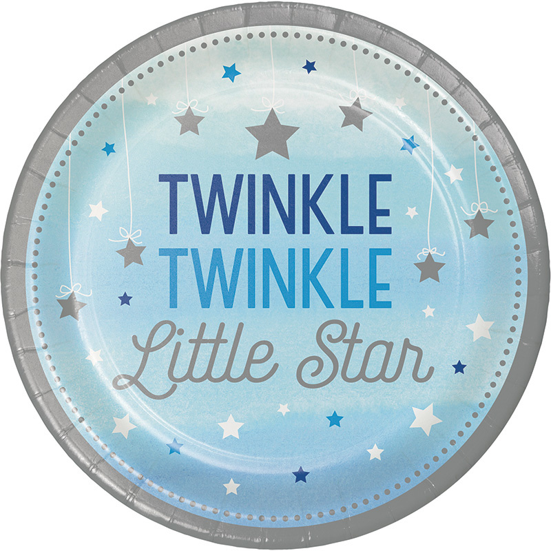 """Twinkle Twinkle Little Star"" Boy lunch bordjes"