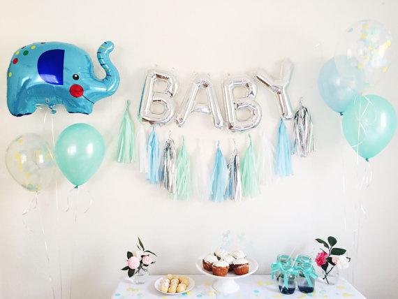 Folie Ballon BABY zilver