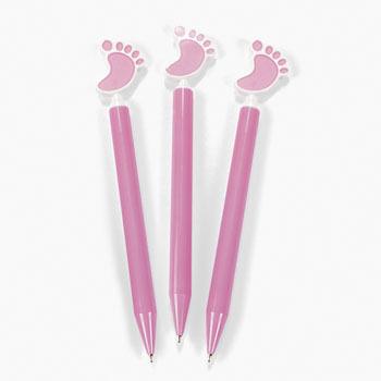 Pen met babyvoetje, roze