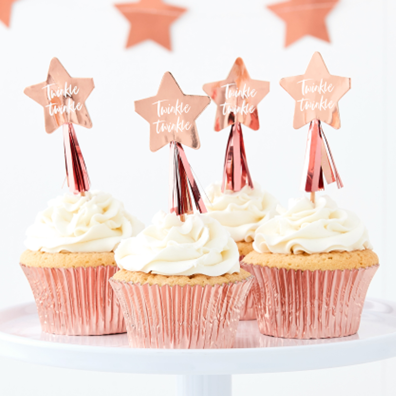 """""""Twinkle Twinkle"""" cupcake picks"""