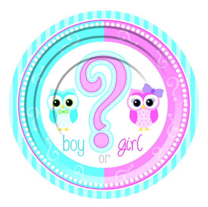 Boy? of Girl? gebakbordjes